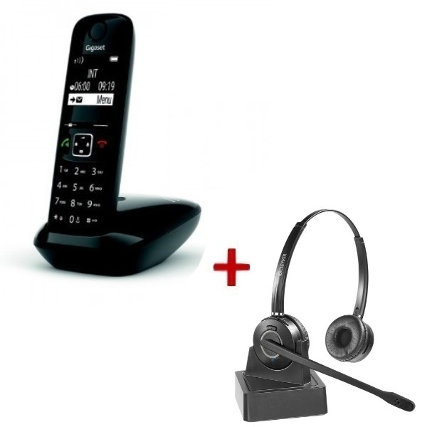 Gigaset AS690 DECT + Casque Duo