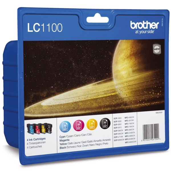 Pack de 4 cartouches Brother LC1100