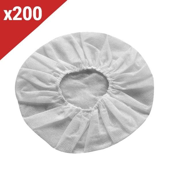 200 charlottes hygiéniques blanches pour casques