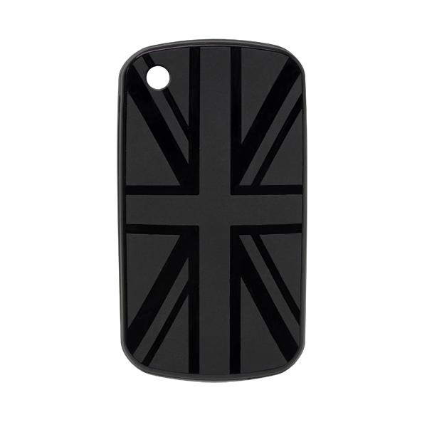 Coque BlackBerry drapeau UK noir