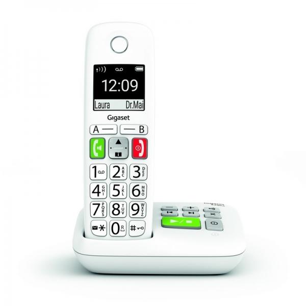 GIGASET E-290A SOLO Blanc Téléphone DECT avec base
