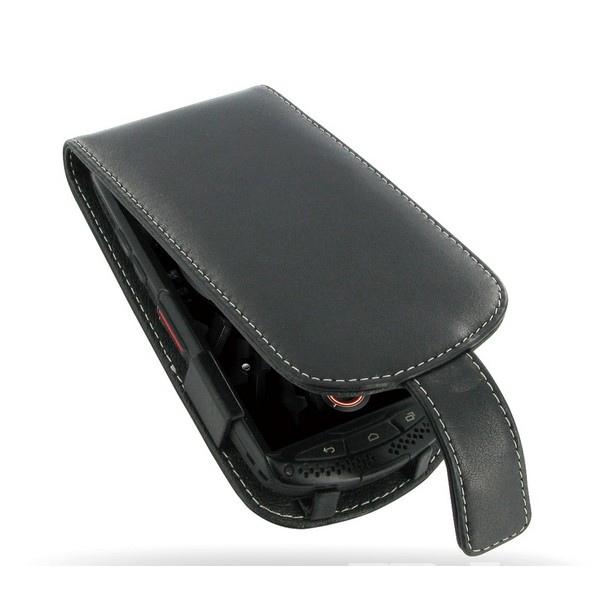 Etui wallet cuir pour Kyocera Torque
