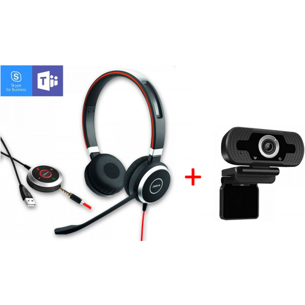 Jabra Evolve 40 Duo + Webcam