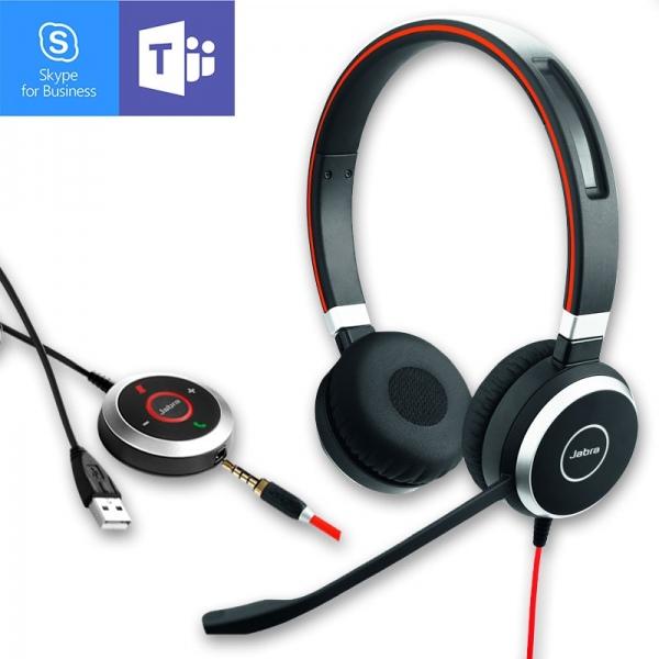 Jabra Evolve 40 MS Duo Jack et USB-A