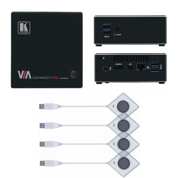 Kramer VIA Connect Pro + 4 Boutons Kramer VIA Pad