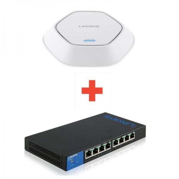 Pack WiFi : Switch Linksys LGS308 + Borne WiFi LAPAC2600