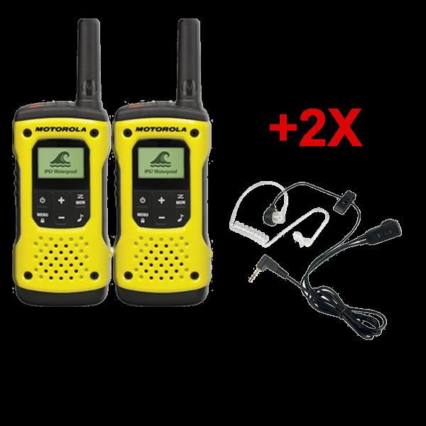 Motorola T92 Duo + 2 Bodyguard headsets