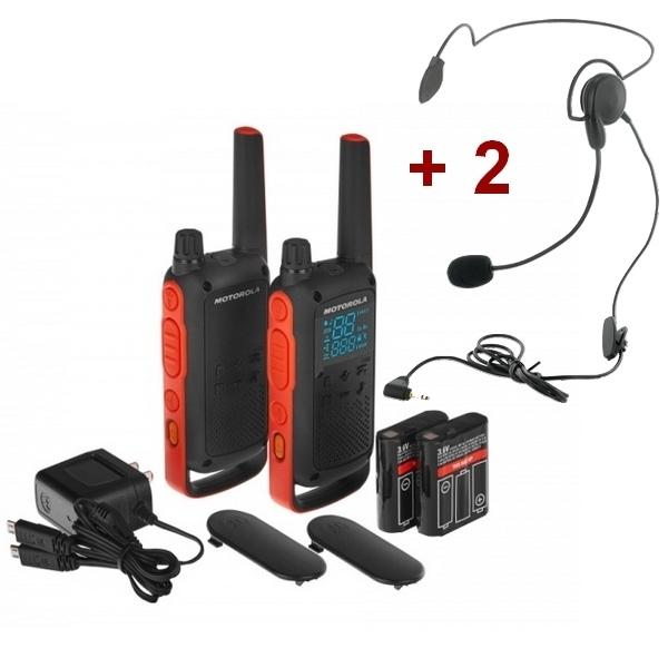 Pack Motorola - T82 + Casques contour de nuque