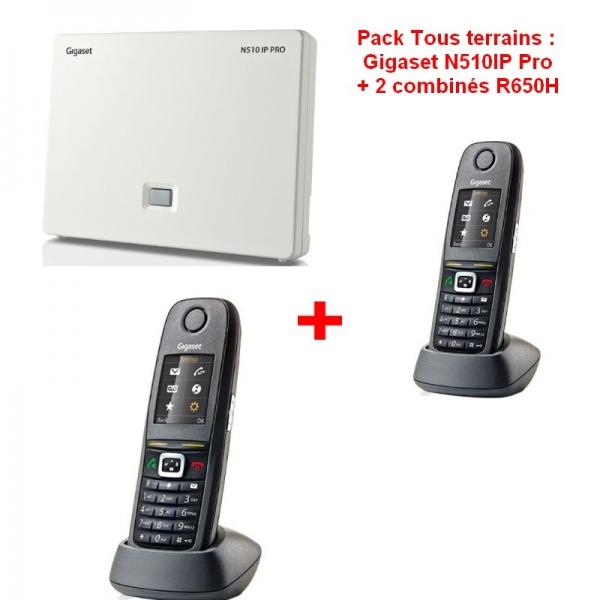 Pack Tout Terrain : Gigaset N510IP Pro + 2 combinés R650H