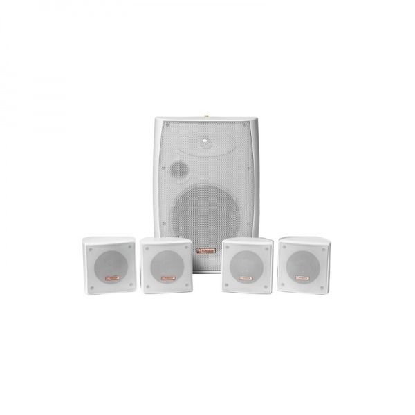 Pack enceintes murales blanches 150W