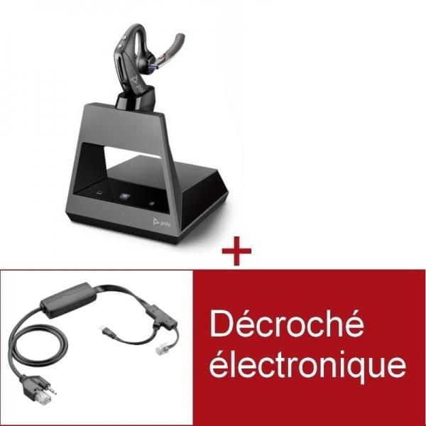 Pack Plantronics Voyager 5200 Office pour téléphone Poly