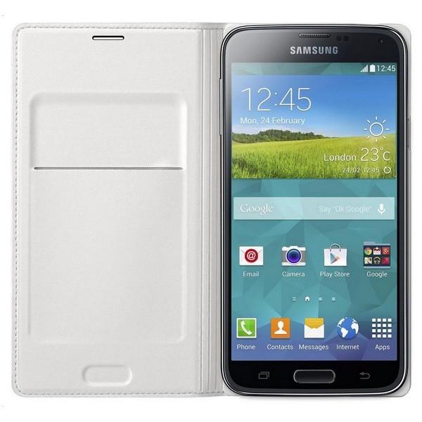 Samsung Etui Wallet blanc pour Samsung S5