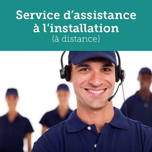 Assistance téléphonique à l'installation et la configuration
