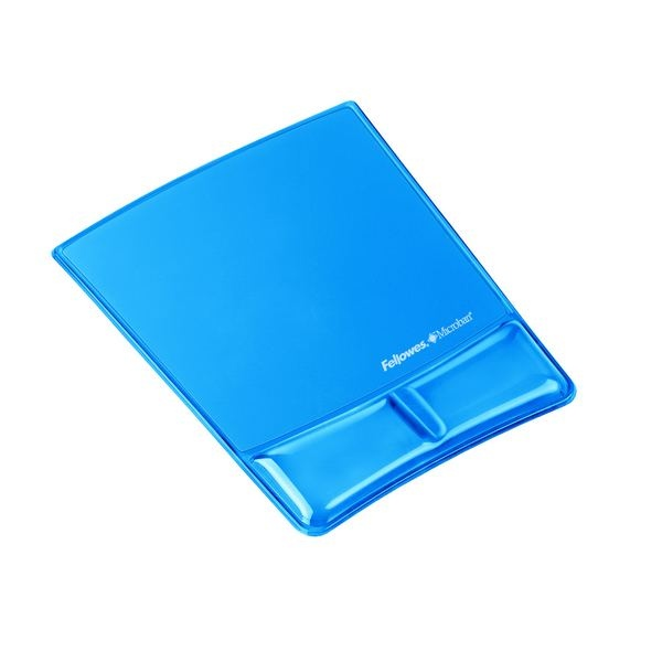 Tapis de souris - Repose poignet Health-V™ Crystal Bleu Fellowes