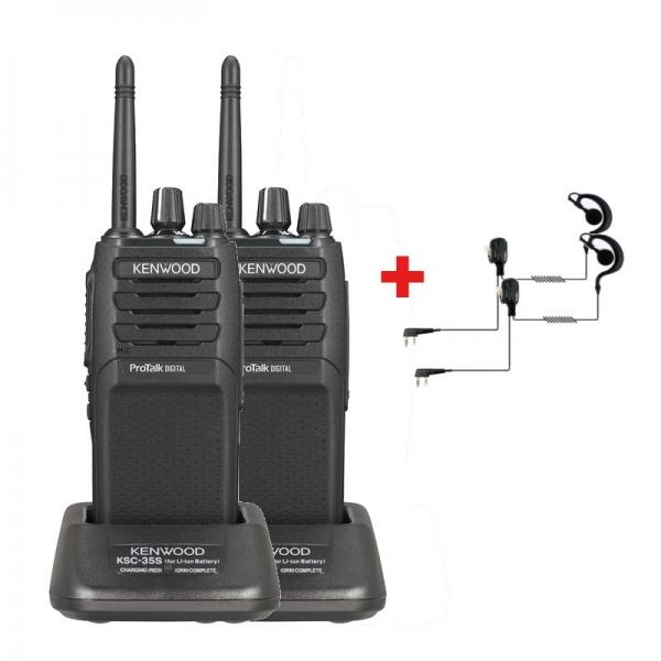 Pack de 2 Kenwood TK-3701DE + 2 contours d'oreille