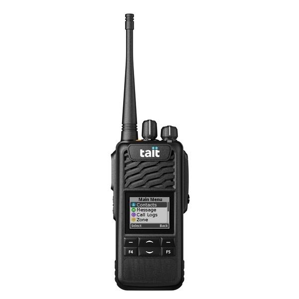 TAIT TP3300 VHF avec écran et clavier 4 touches + Microphone-HP déporté sur épaule