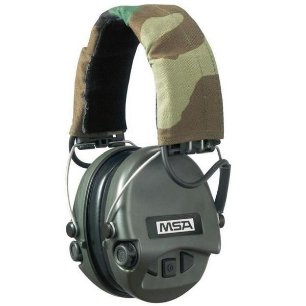 Casque anti-bruit Supreme Pro-X vert avec serre-tête camo