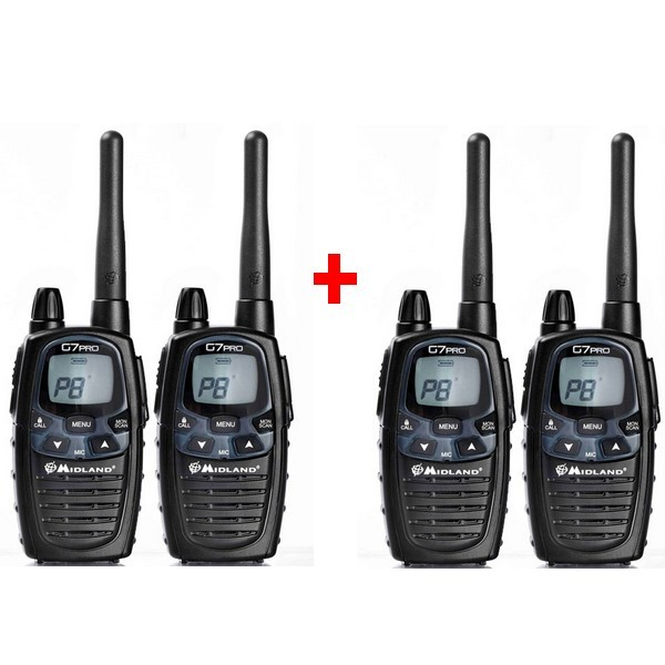Pack de 4 midland g7 pro achat - Talkie walkie longue portee montagne ...