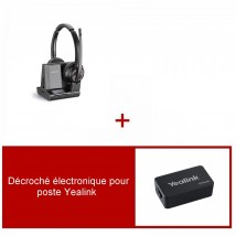 Pack casque Plantronics Savi 8220 Office Duo pour Yealink