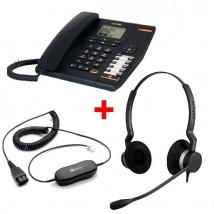 Alcatel Temporis 880 + Jabra BIZ 2300 Duo avec câble