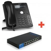 Pack IP Snom : D715 + Switch LGS 308P