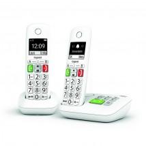 GIGASET E-290A DUO Blanc Téléphones DECT avec base