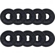 10 coussinets en simili cuir - diamètre 4 cm