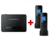 Pack Duo : Base DECT Grandstream DP750 + 2 combinés DP720