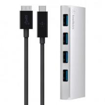 Hub 4 ports USB 3.0 + Câble USB-C Belkin