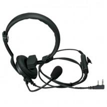 Micro-casque avec fonction PTT pour talkies-walkies Kenwood