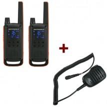 Pack de 2 Motorola Talkabout T82 + Micros haut-parleur déportés