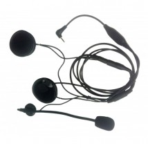 Micro - écouteur double pour casque moto