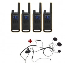 Pack de 4 Motorola Talkabout T82 Extreme + Micro casque