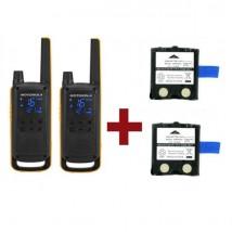 Pack de 2 Motorola Talkabout T82 Extreme + batteries de rechange