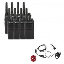 Pack de 8 Motorola XT420 + Contour d'oreilles