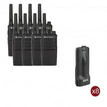 Pack de 8 Motorola XT420 + Batteries de rechange