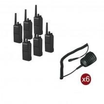 Pack de 6 Motorola XT420 + Micros haut-parleurs déportés