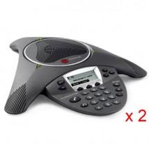 Pack Duo comprenant 2 Polycom Soundstation IP 6000