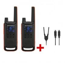 Motorola Talkabout T82 + Câble de charge double
