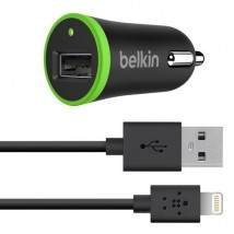 Chargeur allume cigares 2.4A + câble USB-lightning