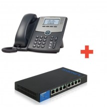 Pack IP Cisco SPA504 G + Switch LGS 308P