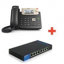 Pack IP : Yealink T23G + Switch Linksys 8 port PoE