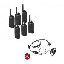 Pack de 6 Motorola XT420 + Contour d'oreilles