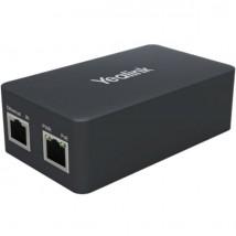 Adaptateur PoE pour téléphones Yealink Interface: ports PoE 10/100 / 1000M Indicateur LED: PWR, PoE Entrée: 100 ~ 240V AC 50 / 60Hz 1.0A Sortie: 54V 0.56A Compatible avec le Yealink CP960 et les autres téléphones Yealink prenant en charge le PoE