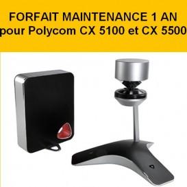Forfait maintenance 1 an Polycom CX 5100 et 5500