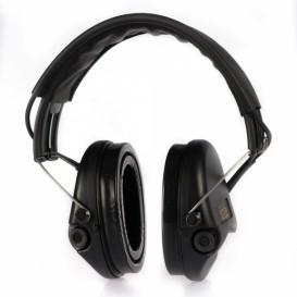 Casque anti-bruit MSA Supreme Pro-X noir avec serre-tête cuir noir