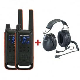 Motorola TLKR T82 + Peltor Headset Flex