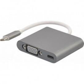 Adaptateur USB-C3.1 vers VGA + charge par type-C