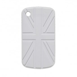 Coque BlackBerry drapeau UK blanc