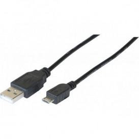 Cordon USB-A 2.0 vers micro USB-B 0.5m